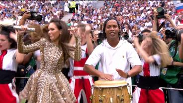 World Cup Final Prematch Show Is Ronaldinho Slapping A Conga Drum