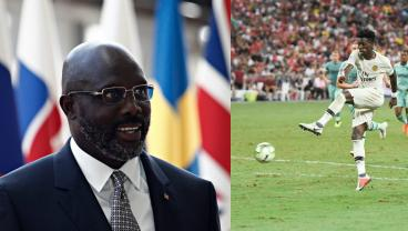 George Weah Plays For Liberia At Age 51 On Same Day Son Tim Features For USMNT