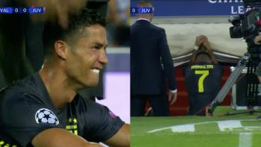 Distraught Cristiano Ronaldo Sent Off 29 Minutes Into Juventus UCL Debut