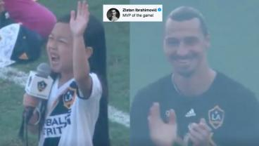 Zlatan Blown Away By 7-Year-Old's Remarkable National Anthem Performance