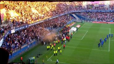 A Broken Gate Leads To Crowd Trouble During Match Between Local Rivals In France