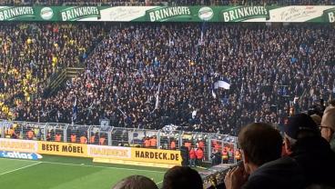 Ugly Scenes As Police, Hertha Berlin Fans Clash During Borussia Dortmund Match