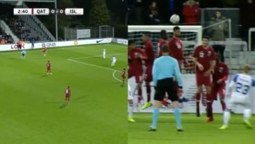 Iceland And Qatar Exchange Beautiful Free Kicks In An Otherwise Meaningless Friendly
