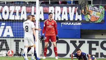 Real Madrid Thrashed By Eibar As Thibaut Courtois Continues To Leak Goals