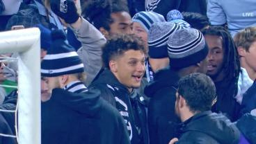 Everyone Fell (More) In Love With Patrick Mahomes At The Sporting KC Match
