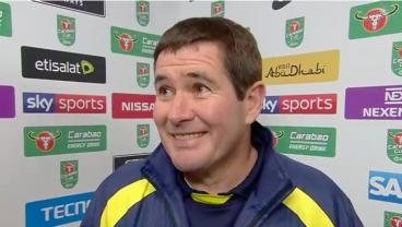 After Losing By 9 Goals To Man City, Burton's Manager Gave A Can't-Miss Interview