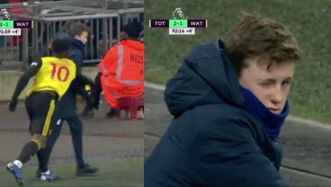 Tottenham Ball Boy Draws Watford Yellow Card, Gives Fans A Wink