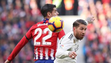 Alvaro Morata Scored Most Amazing Chip In Madrid Derby, So Of Course VAR Disallowed It