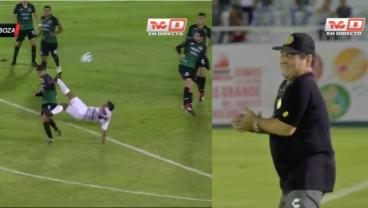 20-Yard Overhead Kick Greatly Pleases Manager Diego Maradona