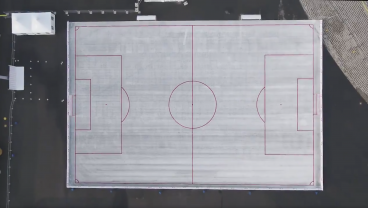 What Do 50,000 Used Beer Cups Look Like? A Beautiful White Football Pitch Thanks To Budweiser