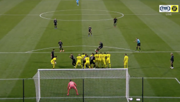 Watch Wayne Rooney Smash Just About The Shortest Free Kick Goal Possible