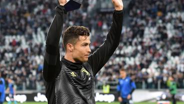 Ronaldo Receives Serie A Player Of Year Trophy; Juventus Celebrates 2 Scudettos