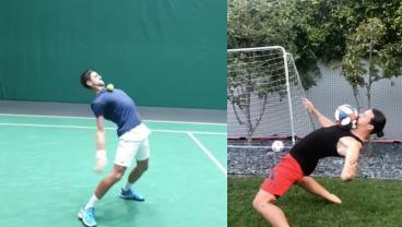 Novak Djokovic One-Ups Zlatan With Perfect Answer To Matrix Challenge