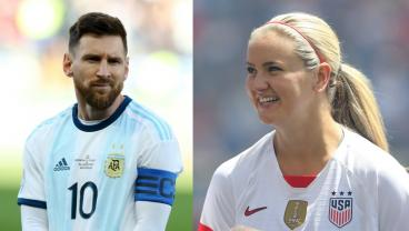 Lindsey Horan Roasts Twitter Troll For Insulting Lionel Messi