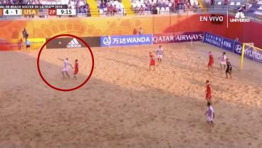 Yeah We Lost, But We Scored A Mighty Fine Bicycle At The Beach Soccer World Cup