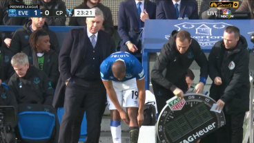 Djibril Sidibé Leaves Everton Down A Man After Forgetting To Put On A Second Sock