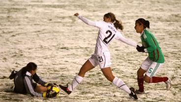 Alex Morgan Made Her USWNT Debut 10 Years Ago Today On A Snowy Pitch In Utah