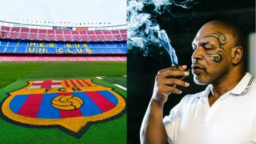 Mike Tyson's Weed Company Wants Camp Nou Naming Rights, So Hopefully That Happens