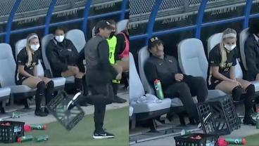 Coach Gets Foot Stuck In Crate After Missed Penalty And Accepts His Fate