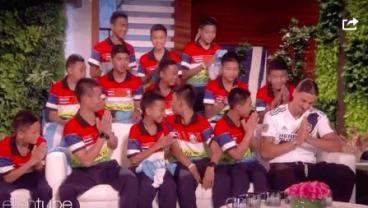 Zlatan Surprises Rescued Thai Soccer Team On Ellen DeGeneres Show