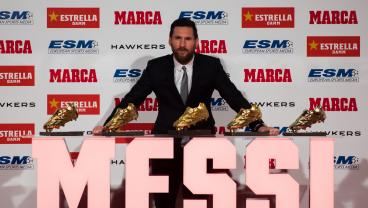 Lionel Messi Receives Fifth Golden Shoe To Move One Ahead Of Cristiano Ronaldo