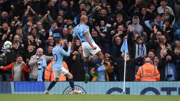 Vincent Kompany's Blistering 30-Yard Missile Keeps Man City In Control