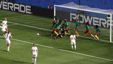 England Opens The Scoring Against Cameroon With The Greatest Play In Sports —The Indirect Free Kick In The Box