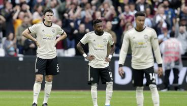 Man United Slumps To New Low Following Meek Defeat To West Ham