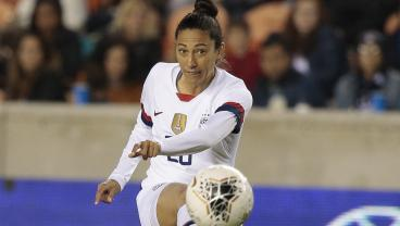 Christen Press Curls One In From Over 20 Yards Out