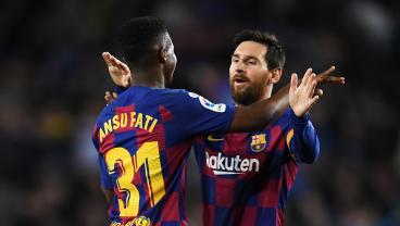 Lionel Messi And Ansu Fati Make Magic Together