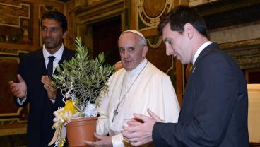 "Pope Francis Says Lionel Messi ""Is Not God,"" But That Free Kick Was Divine"