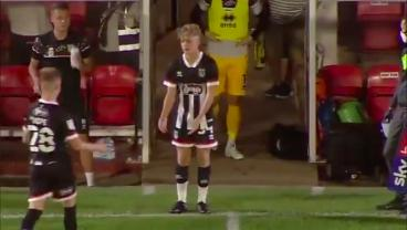 Newly Born 15-Year-Old Scores Worldie 8 Minutes Into Professional Debut