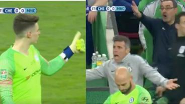 Kepa Refuses To Be Substituted In Incredible Player Mutiny Against Sarri