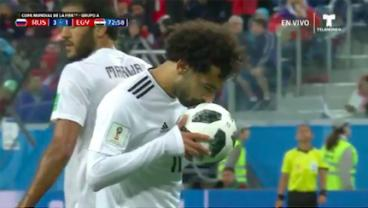 Mohamed Salah Gets His Goal, But Egypt Go Crashing Out