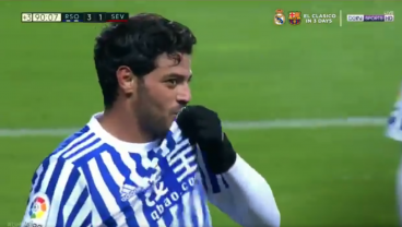 Carlos Vela Scores In Final Real Sociedad Appearance, Kisses Badge