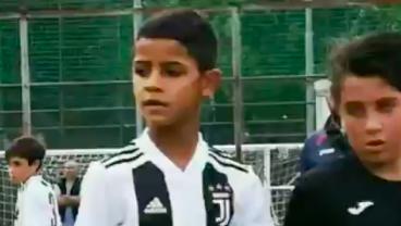 Cristiano Ronaldo Jr Scores Four Goals in Juventus U-9 Debut