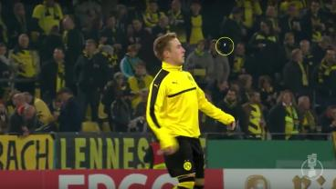 Dortmund Player Executes Epic Keepy Uppy to Save His Gum