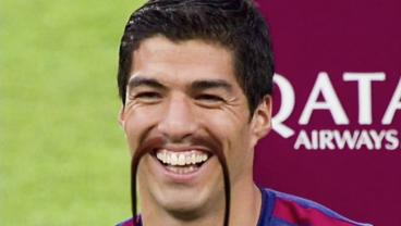 Soccer player with Mustaches