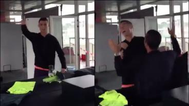 Cristiano Ronaldo Gets Pranked At Shoe Release
