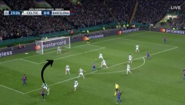 Messi goal on Neymar Assist vs Celtic