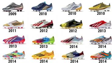 All the boots adidas has made Lionel Messi.