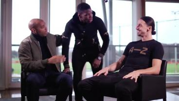 Pogba Crashes Zlatan's Interview With Henry