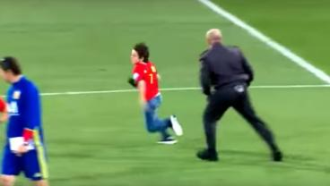 Spain Pitch Invader Meets Morata