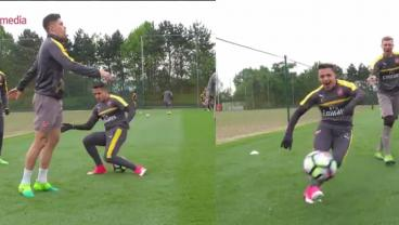 Gabriel No Look Nutmegs Alexis Sanchez, Team Goes Wild