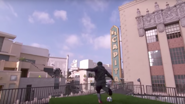 Neymar Attempts To Score From Across The Street On Jimmy Kimmel