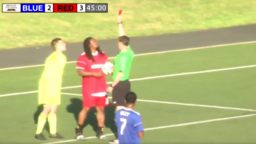 Marshawn Lynch Goes Full Beast Mode, Gets Red Card In Charity Match