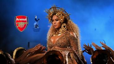 Beyonce Trying To Say Tottenham Vs Arsenal Is Hilarious
