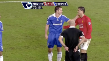 Frank Lampard And Cristiano Ronaldo Trade Fouls