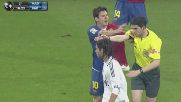 Watch Lionel Messi Push A Referee During El Clasico And Nothing Happens