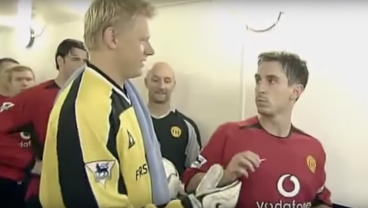 Gary Neville Has As Much Respect For Peter Schmeichel As Barcelona Fans Have For Neymar